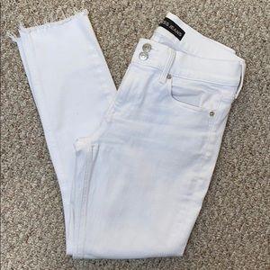 Express white cropped legging jean, sz 6 regular